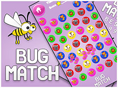 Bug Match for kids Education