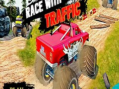 Ultimate MonterTruck Race With Traffic 3D