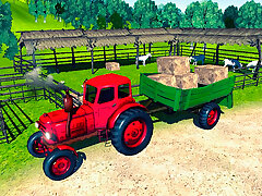 Farmer Tractor Wagon-load Simulation