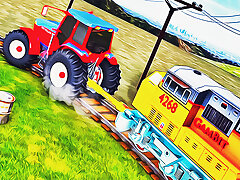 Chained Tractor Towing Familiarize Simulator